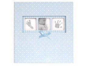modre detske fotoalbum baby polka dot 10x15 200f