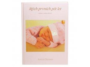 Kniha Mých Prvních Pět Let od Anne Geddes růžová