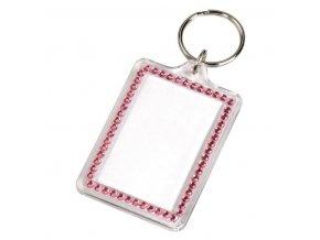 Přívěšek na klíče Fashion, růžový Hama