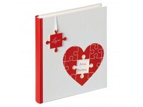 Svatební fotoalbum na růžky 50 stran - Walther Puzzle heart