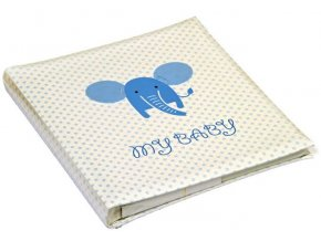 Dětské fotoalbum na růžky 60 stran - Walther BABY ELEPHANT modrý