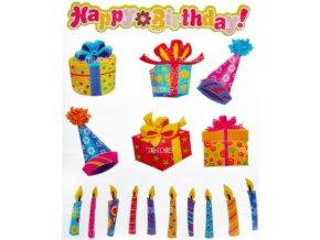Nálepky do fotoalba narozeniny