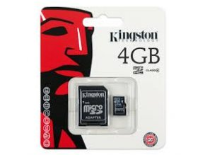 Paměťová karta  Kingston micro SDHC, 4GB CLASS 4