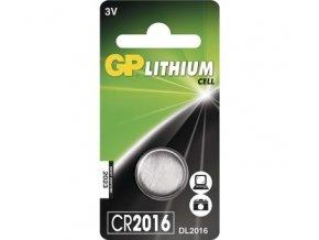 lithiova knoflikova baterie gp cr2016 blistr