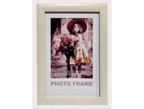 Fotorámeček 13x18 NOTTE 08 plast bílý