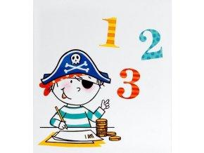 Dětské fotoalbum na růžky 50 stran - Pirát čísla