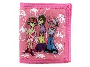 Peněženka dívčí Fox Co./tři holky a jahůdky