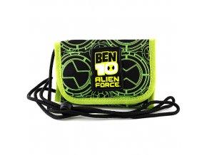 Peněženka chlapecká s poutkem Ben10 Zeleno/černá