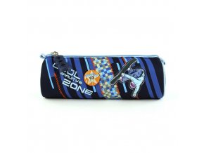 Školní penál kulatý Gravity Zone - modrý Cool