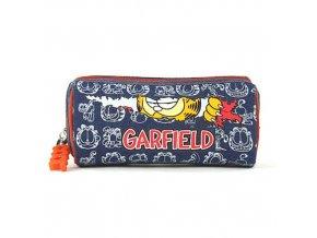 Školní penál oválný Garfield - modrý