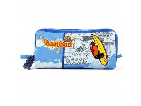 Školní penál oválný  Surfař - modrý