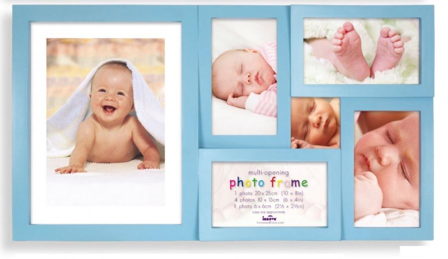 Dětský fotorámeček na více fotek, Maggiore modrý - 6 fotografií