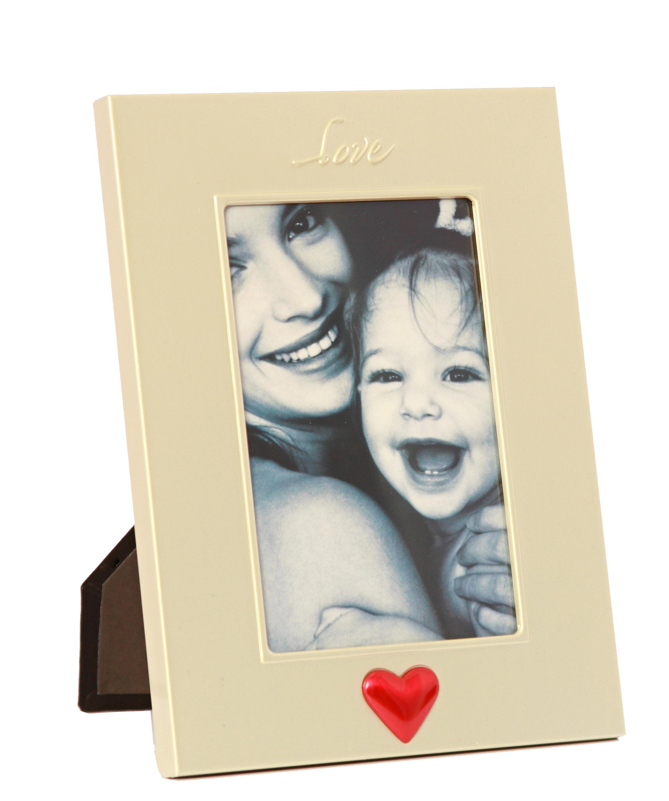 Fotorámeček kovový - 10x15 love