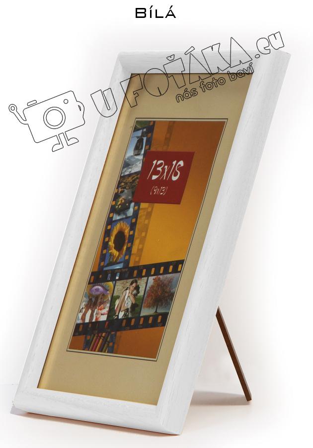Fotorámeček 9x13 dřevěný CODEX zaoblený - různé barvy Barva: Bílá