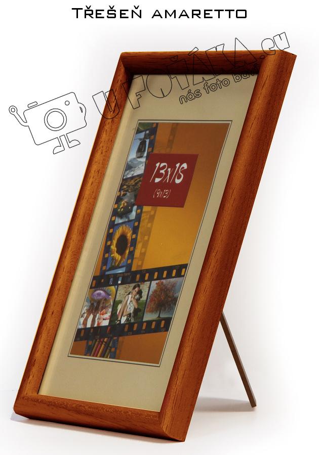 Fotorámeček 9x13 dřevěný CODEX zaoblený - různé barvy Barva: Hnědá - Trešeň amaratto