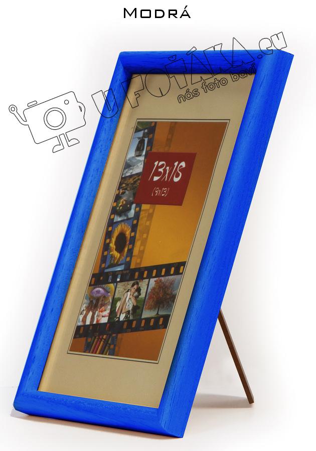 Fotorámeček 9x13 dřevěný CODEX zaoblený - různé barvy Barva: Modrá
