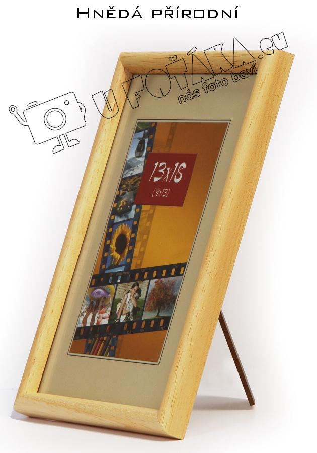 Fotorámeček 9x13 dřevěný CODEX zaoblený - různé barvy Barva: Hnědá - Přírodní