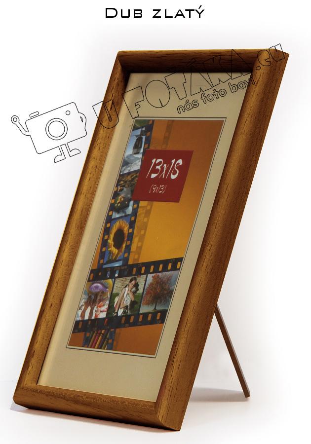 Fotorámeček 9x13 dřevěný CODEX zaoblený - různé barvy Barva: Hnědá - Medová