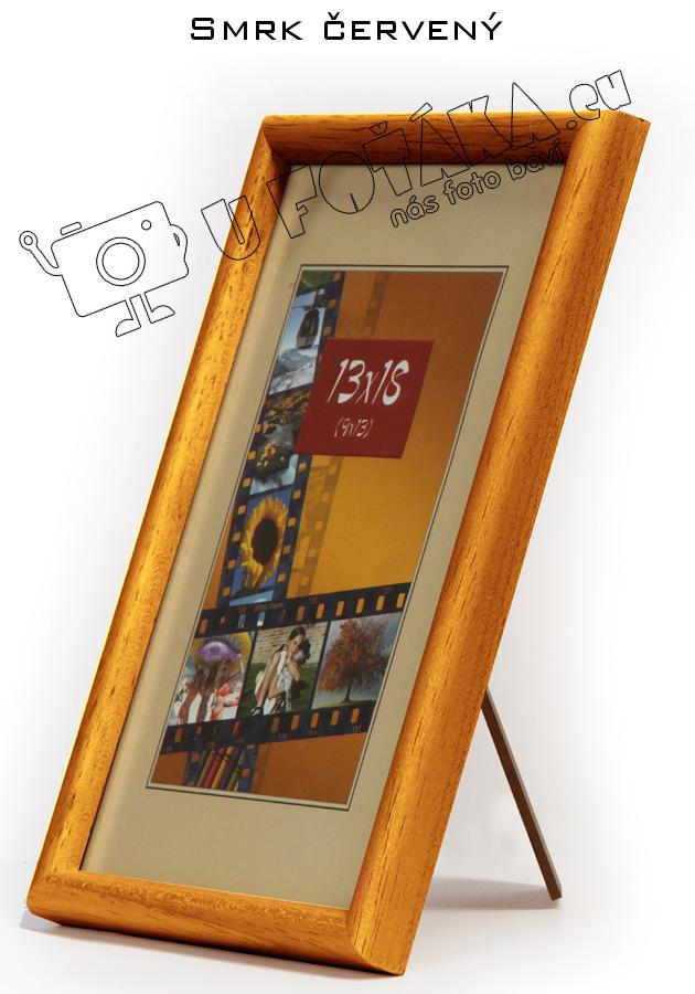 Fotorámeček 9x13 dřevěný CODEX zaoblený - různé barvy Barva: Hnědá - červený smrk