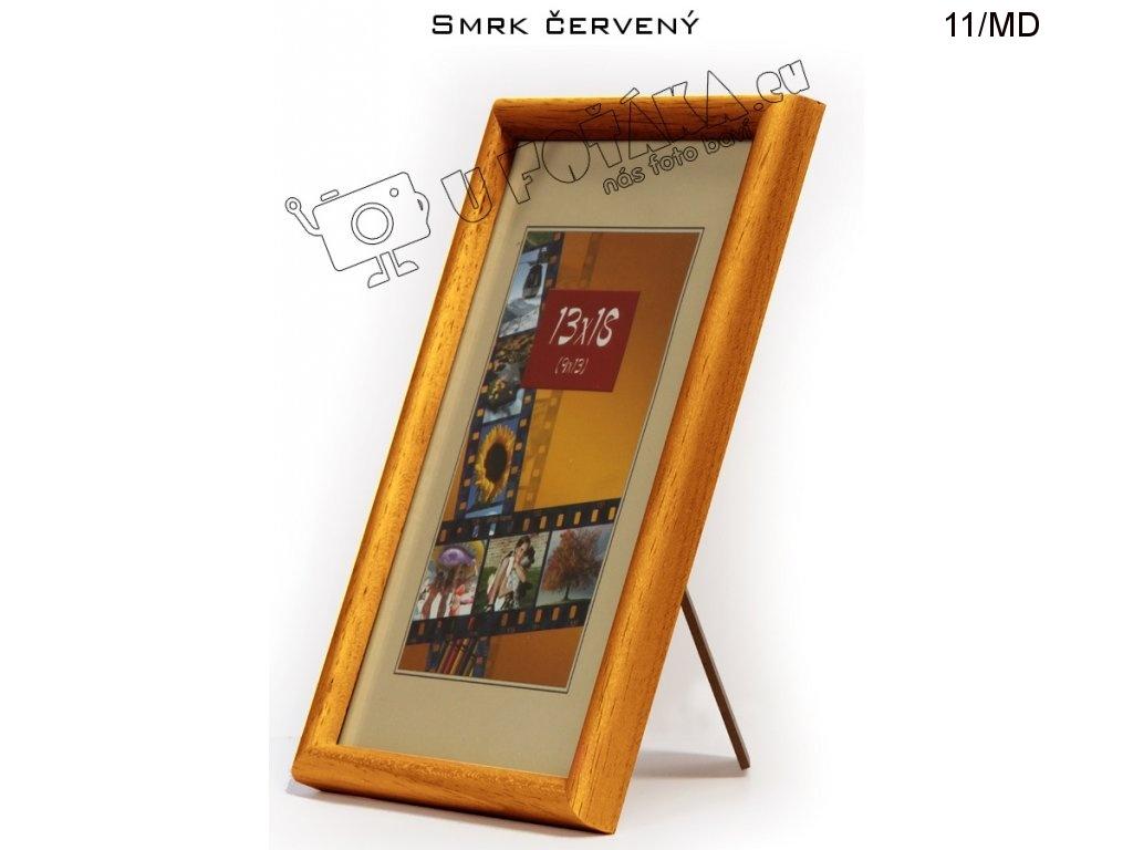 Fotorámeček 13x18 dřevěný CODEX zaoblený - různé barvy Barva: Světle hnědá