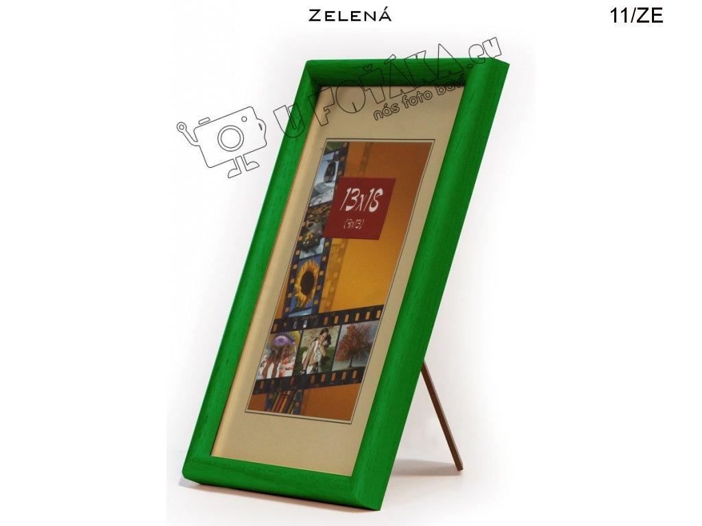 Fotorámeček 13x18 dřevěný CODEX zaoblený - různé barvy Barva: Zelená