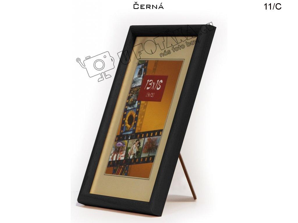 Fotorámeček 13x18 dřevěný CODEX zaoblený - různé barvy Barva: černá