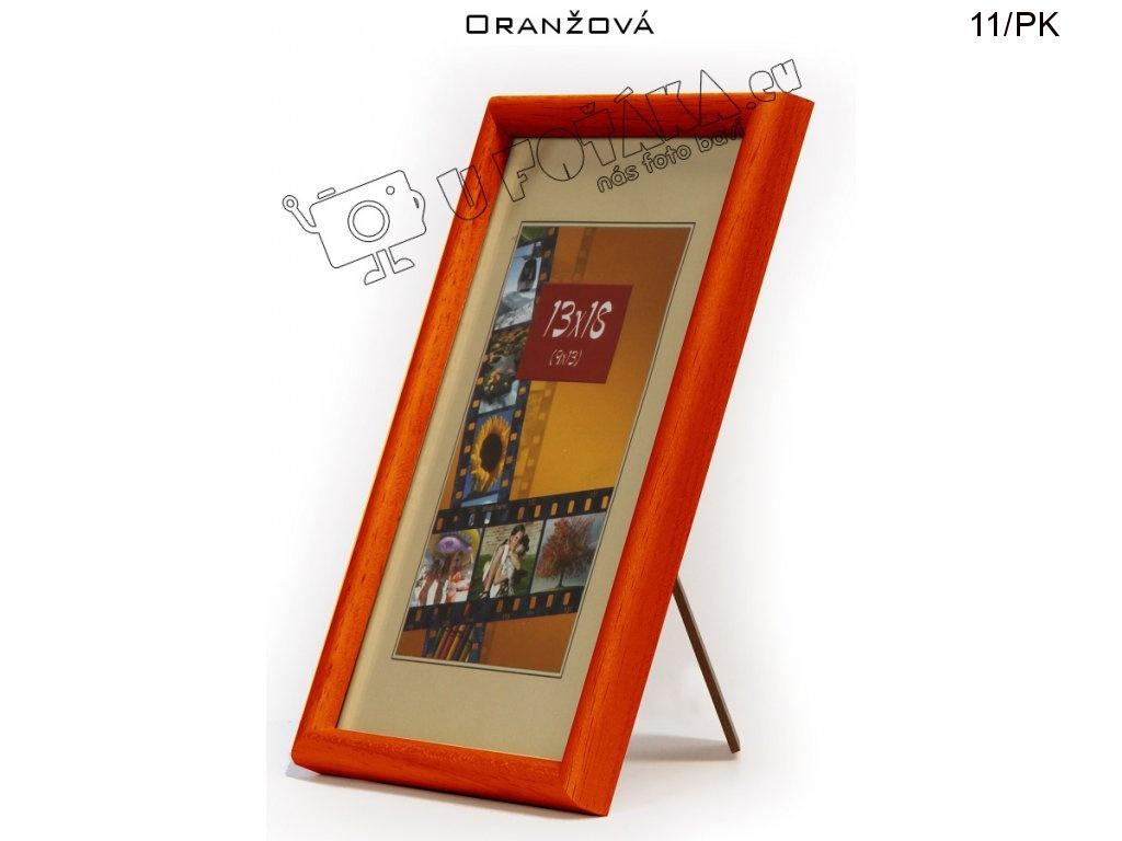Fotorámeček 13x18 dřevěný CODEX zaoblený - různé barvy Barva: Oranžová