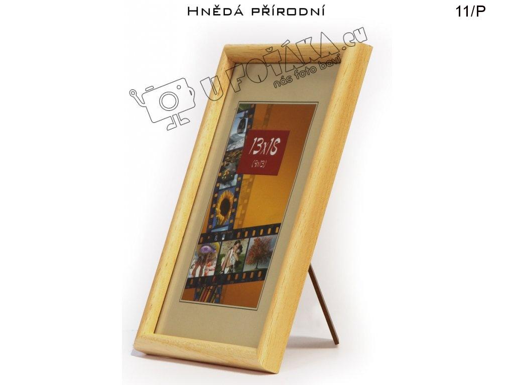 Fotorámeček 13x18 dřevěný CODEX zaoblený - různé barvy Barva: Přírodní