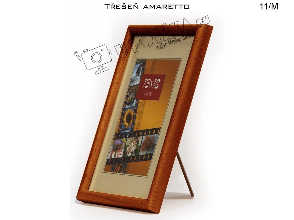 Fotorámeček 13x18 dřevěný CODEX zaoblený - různé barvy Barva: Hnědá