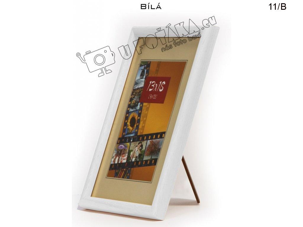 Fotorámeček 13x18 dřevěný CODEX zaoblený - různé barvy Barva: Bílá