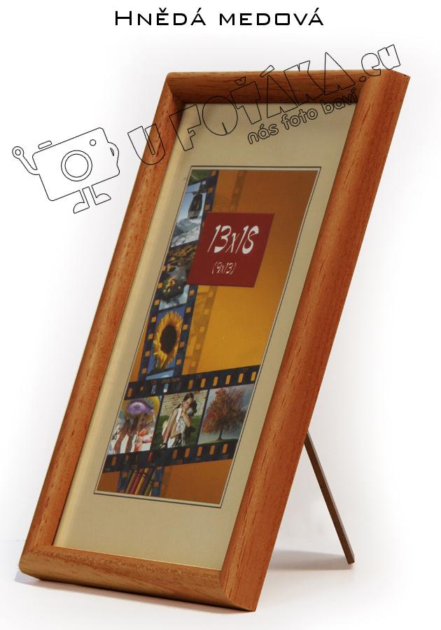 Fotorámeček 18x24 dřevěný CODEX zaoblený - různé barvy Barva: Medová