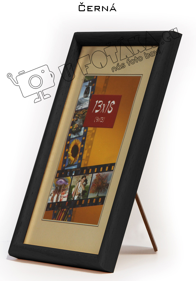 Fotorámeček 18x24 dřevěný CODEX zaoblený - různé barvy Barva: černá
