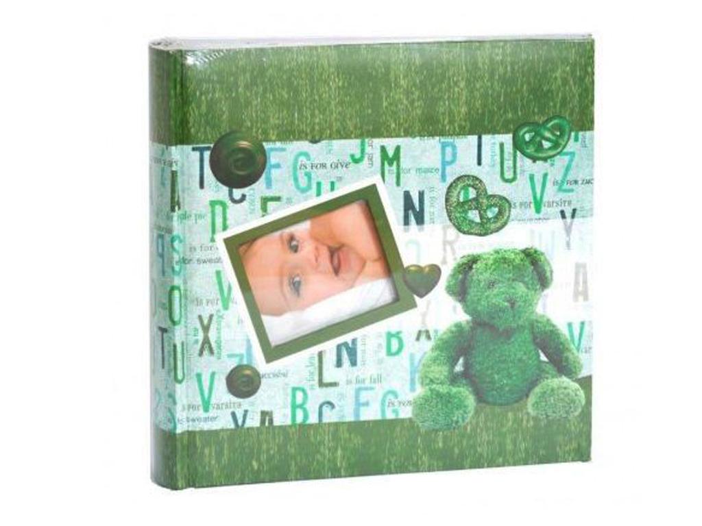 Dětské fotoalbum 10x15/200 foto BABY BOOK zelené