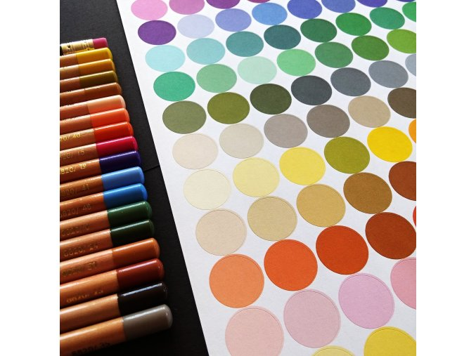 NÁLEPKY . barevné puntíky