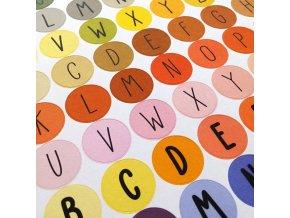 NÁLEPKY . abeceda + číslice . barevné