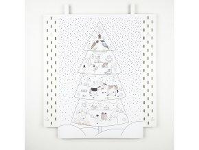 adventní strom se svítícími puntíky