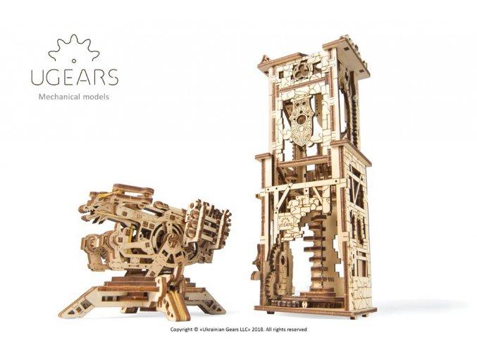 1 Ugears Archballista Tower Model max 1000