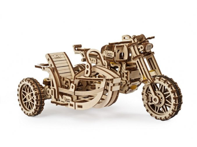 Ugears Motorcycle Scrambler UGR 10 with sidecar10 max 1100