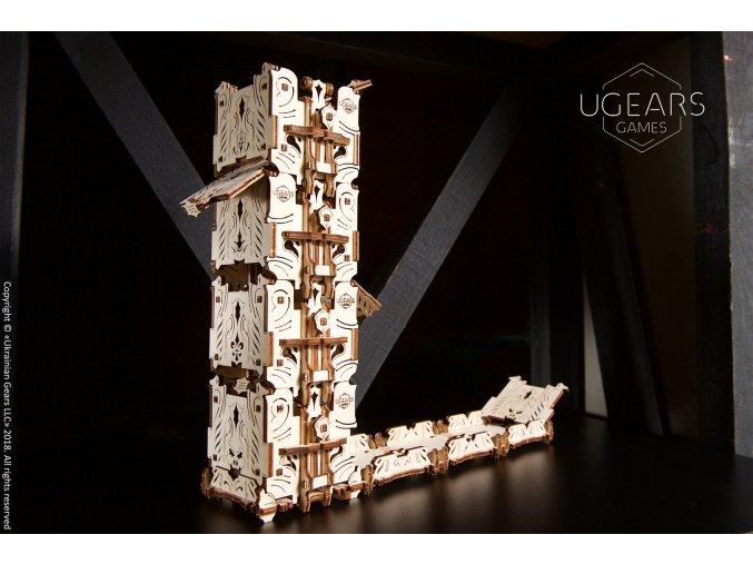 Ugears Games Modular Dice Tower DSC8999