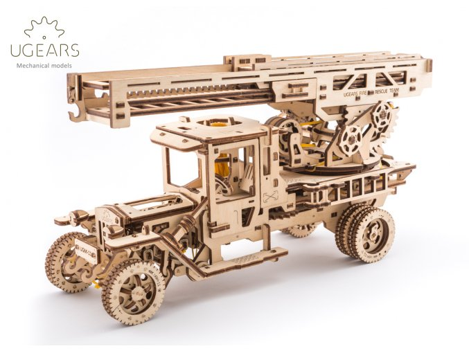 Ugears Fire Ladder Truck 1