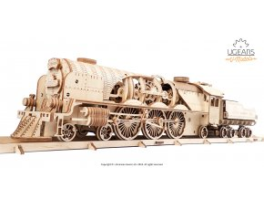Ugears V Express Steam Train with Tender Model Kit 1