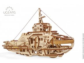 Ugears Tugboat Mechanical Model 6 max 1000