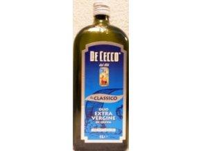"""EXTRA PANENSKÝ OLIVOVÝ OLEJ , značka,, DE CECCO """" 1 litr, jemný klasický extra panenský olivový olej,,"""