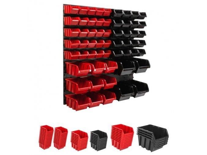 Nástenný organizér na náradie 772x780 mm + 58 boxov ujodano (6)