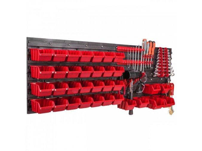 Nástenný organizér na náradie 576 x 780 mm s úchytmi + 34 boxov ujodano.sk (12)