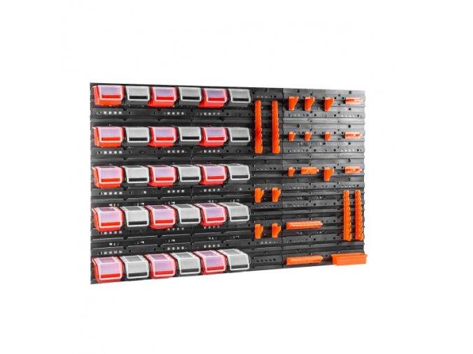 Nástenný organizér na náradie 1200 x 800 mm + 30 boxov s krytom ujodano (7)