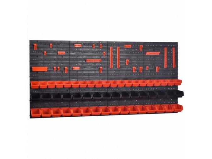 Nástenný organizér na náradie 400 x 800 mm + 52 boxov ujodano (11)