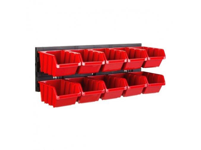 Nástenný organizér na náradie 390 x 130 mm + 10 boxov ujodano (1)