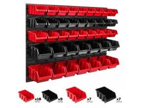 Nástenný organizér na náradie 1152 x 780 mm + 41 boxov ujodano (1)