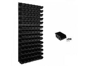 Nástenný organizér na náradie 578 x 1170 mm + 98 boxov ujodano (1)